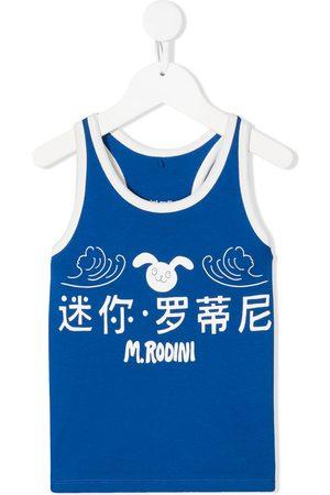 Mini Rodini Rabbit-print vest top