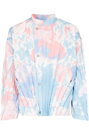 HOMME PLISSÉ ISSEY MIYAKE Tie-dye pleated jacket