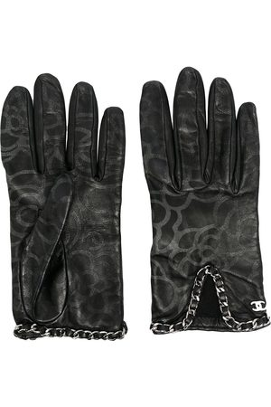 CHANEL Camélia motif gloves
