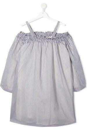 Brunello Cucinelli TEEN striped long-sleeved dress