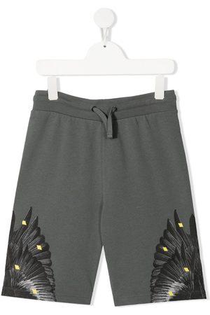 MARCELO BURLON Graphic-print jogger shorts