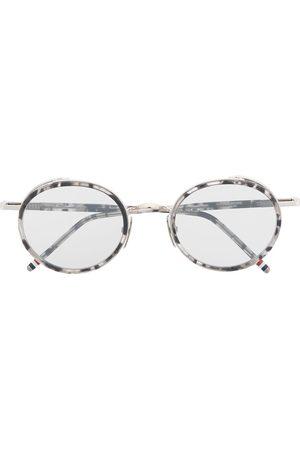 Thom Browne TB813 tortoise round sunglasses