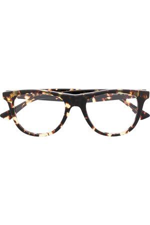 Bottega Veneta Square-frame tortoiseshell glasses