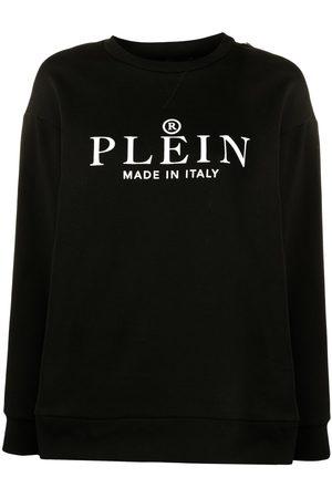 Philipp Plein Logo print cotton sweatshirt