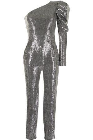 Semsem Sequin-embellished asymmetrical jumpsuit