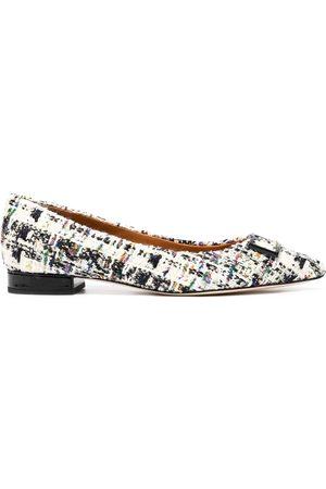 Tory Burch Gigi tweed ballerina shoes