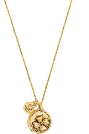 Goossens Talisman four-leaf clover medallion necklace