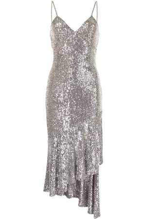 Semsem Asymmetric sequin-embellished dress