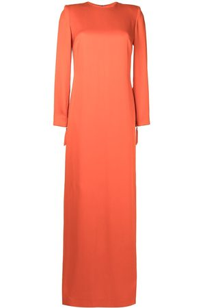 Semsem Long-sleeved silk twill dress