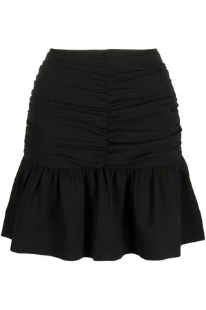 Ganni Ruched mini skirt