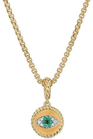 David Yurman 18kt yellow diamond 1mm evil eye charm enhancer pendant