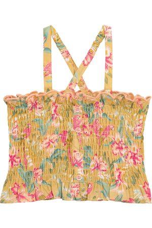 Louise Misha Girls Tops - Malika smocked cotton top