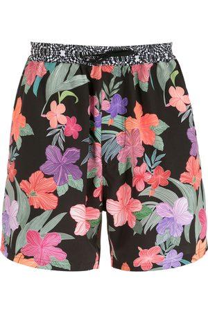 AMIR SLAMA Men Swim Shorts - Print Hibiscus shorts