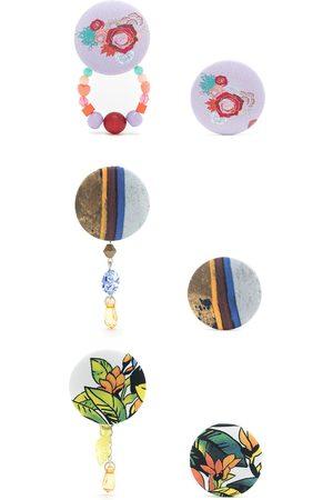 AMIR SLAMA 3 pair earring set