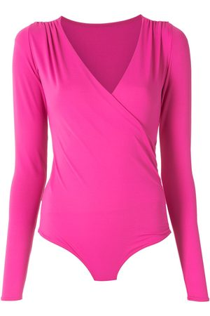 AMIR SLAMA Women Blouses - Draped long sleeves bodysuit