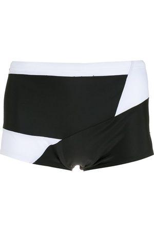 AMIR SLAMA Men Swimming Briefs - Panelled two-tone swimming trunks