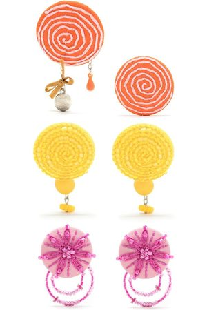 AMIR SLAMA 3 pair earring set