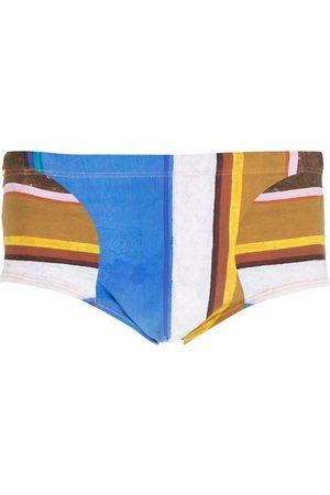 AMIR SLAMA Men Swimming Briefs - Eco striped swimming trunks