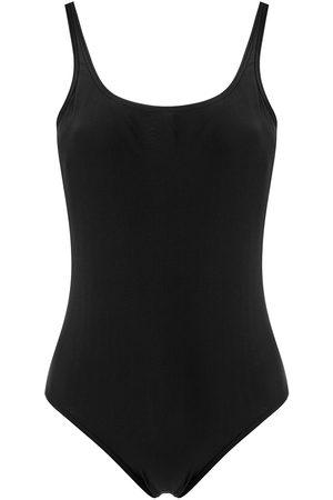 AMIR SLAMA Women Beachwear - Plain plunging back one-piece