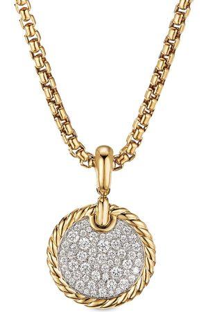David Yurman 18kt yellow diamond 14mm elements enhancer pendant