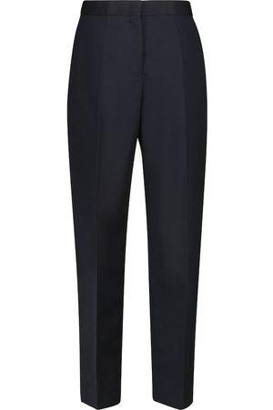 Jil Sander High-rise cotton and silk carrot pants
