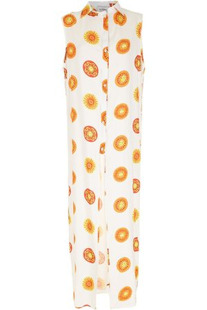 AMIR SLAMA Women Printed Dresses - Print Sol long beach dress