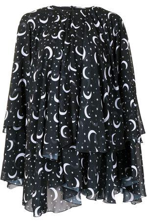 Semsem Moon and star print kaftan top