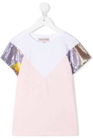 Emilio Pucci Sequinned sleeve T-shirt