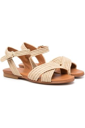BONPOINT Woven side-buckle sandals