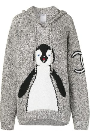 CHANEL 2007 penguin motif drawstring hoodie