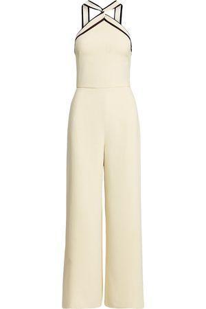 Ralph Lauren Two-tone twist-detail jumpsuit