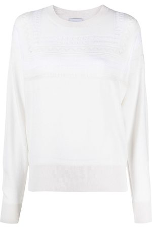 Barrie Lace-detail jumper