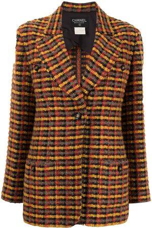 CHANEL 1995 checked tweed jacket