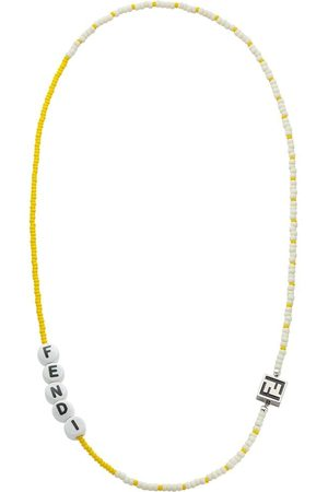 Fendi Beads logo charm necklace