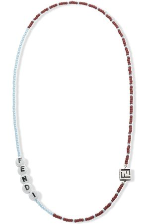 Fendi Beaded enamel detail necklace