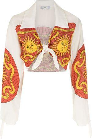 AMIR SLAMA Long sleeves cropped shirt