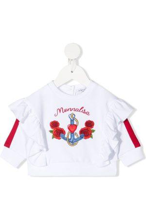 MONNALISA Embroidered-logo sweatshirt