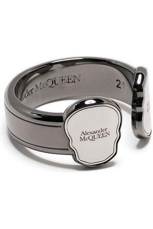 Alexander McQueen Skull logo-engraved ring