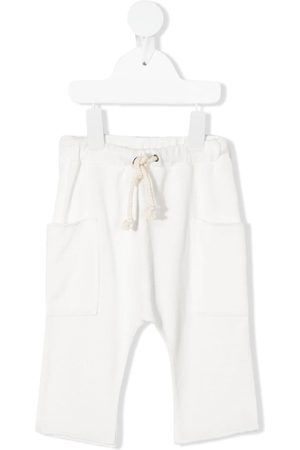Zhoe & Tobiah Fine-knit drop crotch trousers