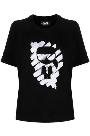 Karl Lagerfeld Ikonik Graffiti short-sleeved sweatshirt