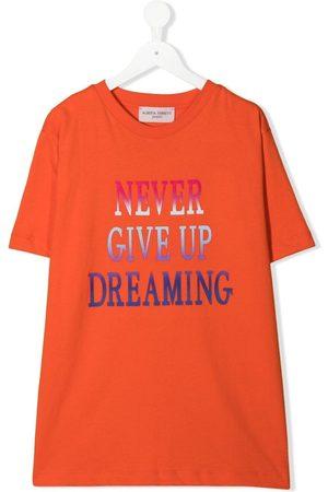 Alberta Ferretti TEEN Never Give Up Dreaming-print T-shirt