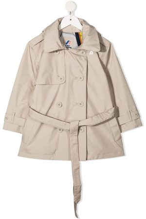 K-Way Double-breasted trench coat