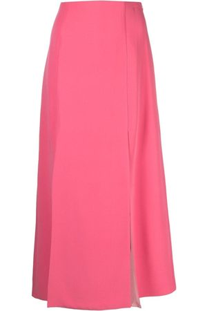 VALENTINO High-waisted slit-detail skirt