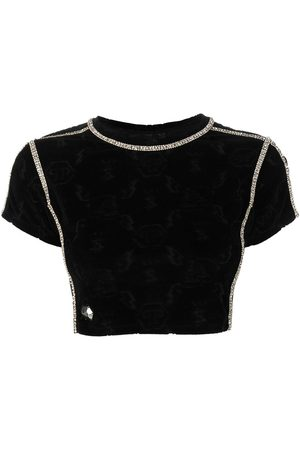Philipp Plein Women Crop Tops - Logo monogram cropped top