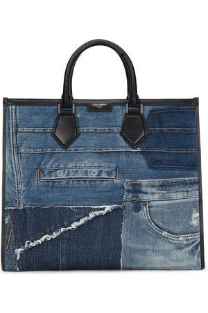 Dolce & Gabbana Patchwork-design denim tote bag