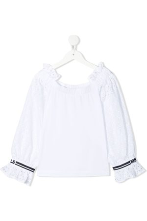 MONNALISA Ruffle-trimmed cotton blouse