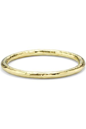 Ippolita 18kt yellow large hammered Classico bangle