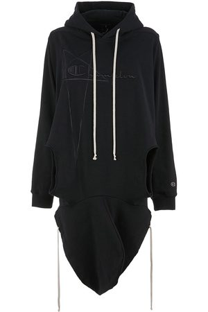 Rick Owens X Champion draped hoodie