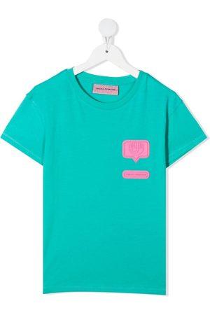 Chiara Ferragni Eyelike patch cotton T-shirt