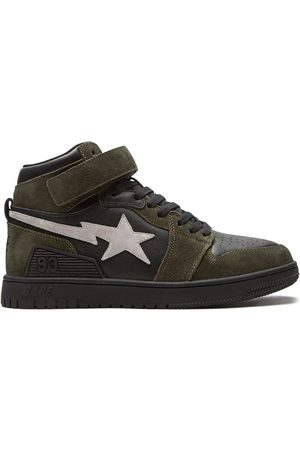 A Bathing Ape BAPE BLOCK STA high-top sneakers